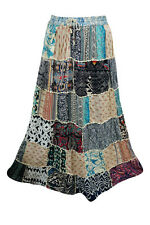 MAXI PATCHWORK ETHNIC SKIRT VINTAGE INDIAN BOHO CHIC HIPPIE GYPSY LONG SKIRTS