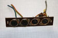 Steckerbuchsen -Lautsprecher und Tonband/Plattenspieler f. Nordmende Röhrenradio