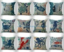10pcs couch pillow cases wholesale cushion covers turtel lobster ocean marine