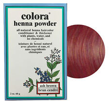 Colora Henna Powder All Natural Hair Color 60g Ash Brown