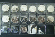 2007 2008 2009 2010 Canada Vancouver Olympic 15 coin set Quarter 25 cent 25c
