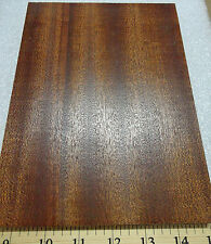"Ribbon Sapele Mahogany prefinished 3/4"" x 6"" x 8.5"" plywood with Maple backer"