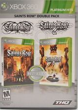Saints Row: Double Pack (Microsoft Xbox 360, 2010) Complete 1 2 Platinum Hits