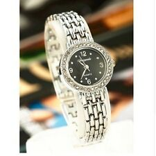 Fashion Women Ladies Girl Stainless Steel Band Analog Quartz Wrist Watch Luxury