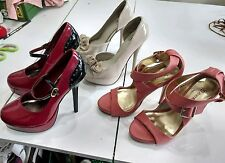 Womans Pumps Womans Staletto Womans Peep Toe size 6 size 6.5 Used LQQK