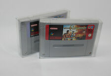 10x COVER PROTECTORS CARTRIDGES SUPER NINTENDO SNES box cartridge