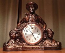 """Rare Antique United 1933 """"Will Rogers"""" Early """"Spin Start"""" Clock Runs Looks Great"""