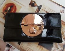 MIMCO Turnlock black Leather large wallet clutch