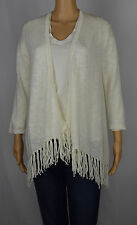 American Living Womens Cream/White 3/4 Sleeve Open Front Cardigan Sweater Size M