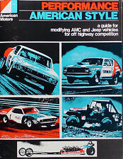 AMC AMX Javelin Racing Parts Book 1968 1969 1970 1971 1972 Performance Modifying