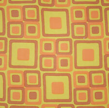 vintage 1960s geometric print cotton interiors fabric