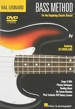 Hal Leonard Bass Method Beginner's Pack [DVD/CD] (2005, DVD NEUF)