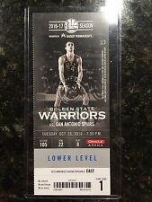 2016 NBA Golden State Warriors vs Spurs 10/25 Ticket Stub - Durant 1st Dubs game
