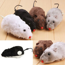 Wind Up Furry Running Moving Tail Mouse Rat Cat Kitten Prank Toy Joke Gag Gift