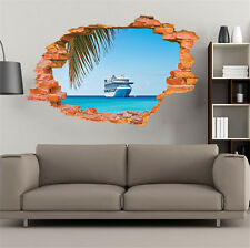 3D Sea Cruise Ship Removable Wall Sticker/Decal Home/Rome Decoration Brand New