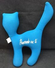 "Microbead Cat Pensando En Ti Spanish Thinking About You Blue Plush 13"" Toy Lovey"