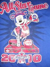 Chicago Cubs 2010 All Star Game Shirt Mickey Mouse Majestic Classic Mickey Large