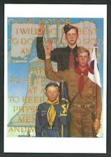 Boys Scouts of America - Disegno di Norman Rockwell - cartolina cm 10,5 x 15 - 8