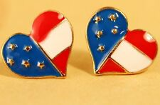 Independence Day 4th of July Patriotic American US Flag Star Stud Post Earrings