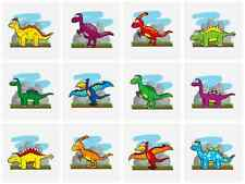 12 x Childrens Boys DINOSAUR Temporary Tattoos Transfers N51 033