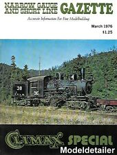 Narrow Gauge GazetteV2 N1 Climax Pacific Lumber Company Yager Creek Lee Town