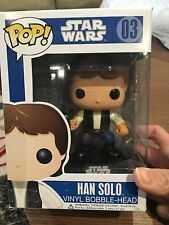 FUNKO POP VINYL FIGURES STAR WARS - HAN SOLO #03 Blue box- Retired Set- Rare!