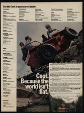 1968 COOT 4 Wheel Drive ATV - SUV - 4X4 W/ optional Propeller - VINTAGE AD