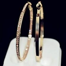 NiX 1272 Valentine Gift Gold Plated Big Hanging Hoop Gold Women Earrings Bali