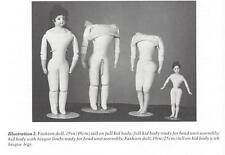 "18""ANTIQUE FRENCH FASHION LADY DOLL KID LEATHER JOINTED GUSSET BODY PATTERN BOOK"