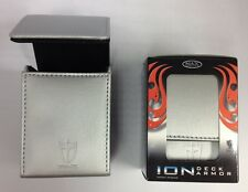 Max Pro ION DECK BOX - METALLIC - TITANIUM WHITE -for Magic MTG YuGiOh! Pokemon