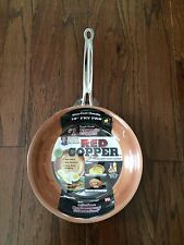 "NEW Red Copper 10"" Inch Frying Pan Skillet As Seen On  TV Ultra Tough Non Stick"