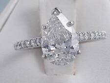 2.25 CARATS TW PEAR SHAPE DIAMOND ENGAGEMENT RING G SI2