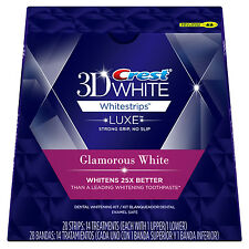 14 pouches (28 strips) Crest 3D Whitestrips Luxe Glamorous White- 100% AUTHENTIC