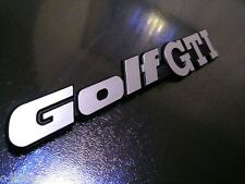 "MK2 GOLF REAR PANEL ""GOLF GTI"" badge! BRUSHED CHROME, OEM QUALITY BRAND NEW!!'"
