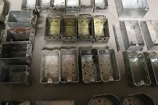 30 NEW & USED MIXED/ASSORTED ELECTRICAL STEEL BOXES