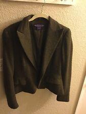 Ralph Lauren Purple Label Collection Brown/Green Cashmere/Alpaca Jacket Sz 12
