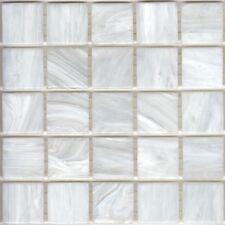 25pcs SM01 White Bisazza Smalto Italian Glass Mosaic Tiles 2cm x 2cm