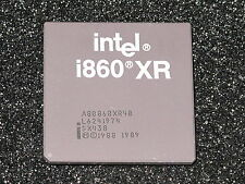 CPU Intel i860xr a80860xr-40 sx438 di 1996 RARO RAR! VINTAGE GOLD Chip