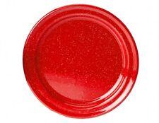 """Red Enamel Dinner Plate 10"""""""