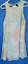Ladies Floral Swing Top Size 4 Polyester Separate Lining Jessica By Chris Lai