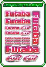 FUTABA RC STICKERS A5 SHEET R/C PLANE CAR BUGGY HELI REMOTE CONTROL PINK RED W