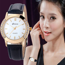 Women's Geneva Watch Fashion Leather Stainless Steel Analog Quartz Wrist Watches