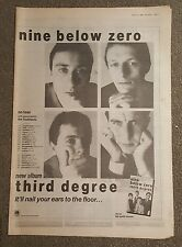 Nine Below Zero Third degree 1982 press advert Full page 30 x 42cm mini poster