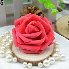 50pcs Foam Rose Heads Artificial Flowers Wedding Bride Bouquet Party Decor DIY