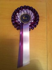 3 tier rosettes 6th place violet chien, cheval, animal show