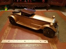Vintage schieble scheible pressed steel toy coupe car race toy car lot antique