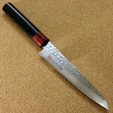 "Japanese SETO ISEYA-I Kitchen Petty Utility Knife 5.9"" Damascus Hammered JAPAN"