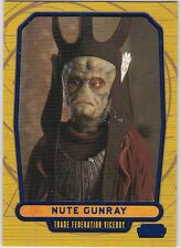 STAR WARS GALACTIC FILES SERIES 1 BLUE PARALLEL #10 NUTE GUNRAY 146/350