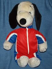 """19"""" Snoopy Plush Toy 1968 United Feature Syndicate, VG jogging suit pre-owned."""