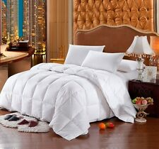 KING Size White Stripe Siberian GOOSE DOWN Comforter 1200TC Egyptian Cotton